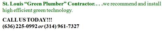 St. Louis Green Plumber Contractor